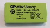 NiMH battery 1.2 volt 600 mAh 35.5x17x6.1 mm
